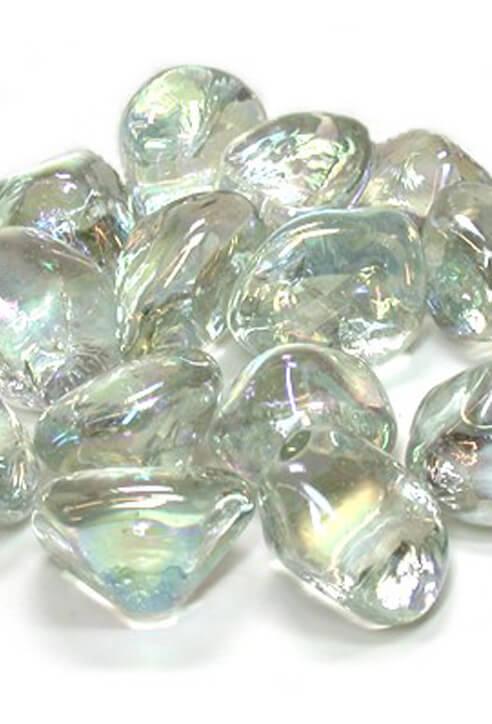 Glass Vase Gems Clear Lustre
