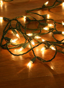 Mini String Lights 50ct Green Wire 12 Ft | Clear