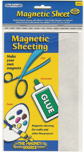 Flexible Magnetic 5x8 Sheeting with Adhesive (set of 24)