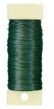 Floral Paddle Wire 26 Gauge Green