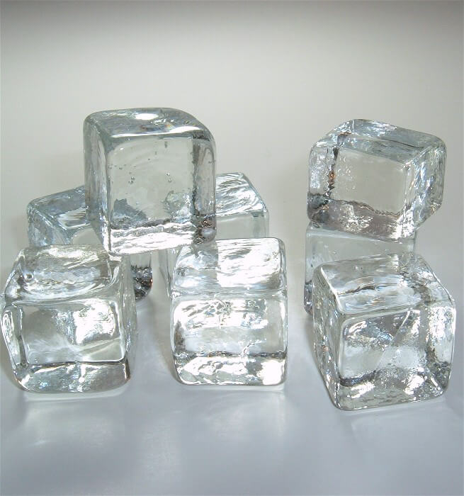 "Eight 1"" Glass  Ice Cubes"