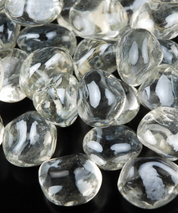 Glass Diamond Gems 20mm Lustre Clear 12oz