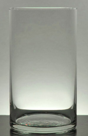 Clear Glass Cylinder Vase 6in