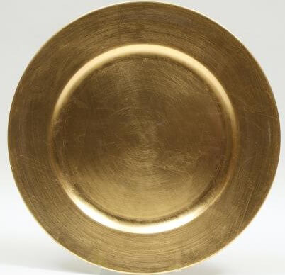 Gold Charger Plates 13in  (Set of 6)