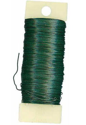 Floral Paddle Wire 22 Gauge - Green