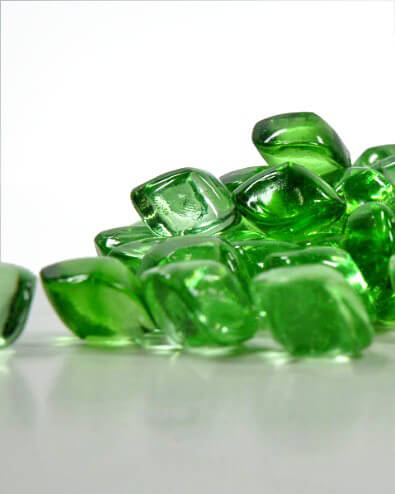 Green Glass Vase Gems 12oz. $2.99 pkg. / 24 pkgs. for $2  pkg