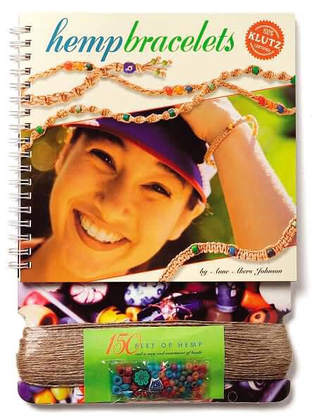 Hemp Bracelets (150 hemp cording beads) KLUTZ