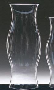 Glass Hurricane Shades 14in