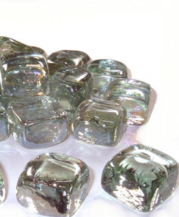 "1"" Clear Glass Ice Cube Vase Gems 25 pieces  (Pack of 25)"