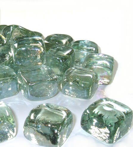Glass Ice Cubes iridescent 1in (Pack of 25)