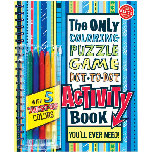 Klutz Activity Book Coloring, Puzzles, Games, Dot-To-Dot $12