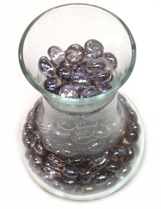 Mini Lilac Glass Gems 10mm Lustre 12oz