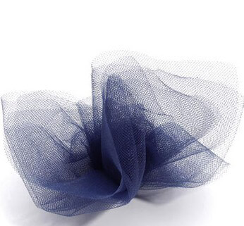 Navy Blue Tulle Netting 6in wide ( 25 yards/ spool)