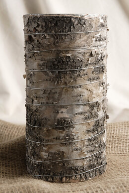 "Woodsy Vase 4.75""x 9"" Birch Bark"