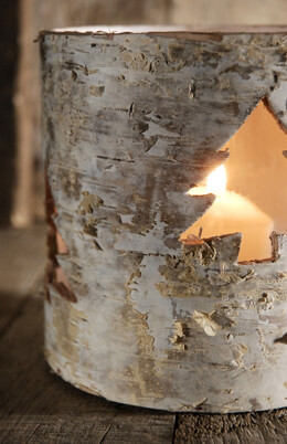 "Birch Tree Votive 5""x 5"""