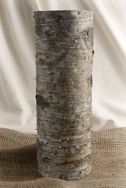 Birch Bark Cylinder Vase 13.5in