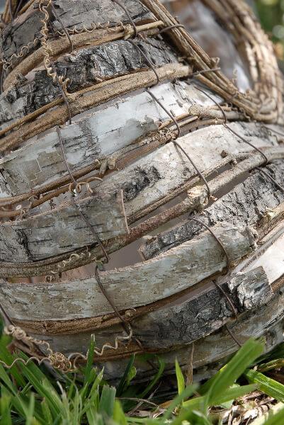 "12"" Natural Birch Basket with Handle &  Liner"