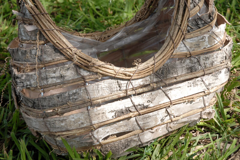 Rochester Birch Basket  11.75""