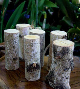 Natural Birch Place Card Holders 3in (Set of 12)