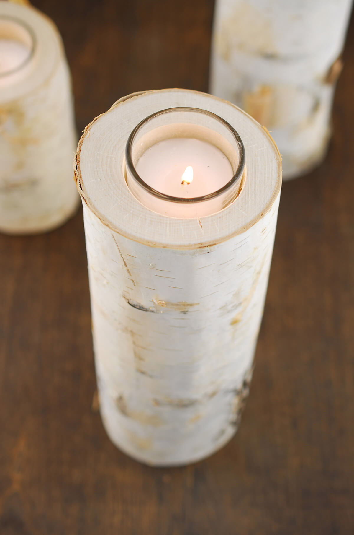 Birch Candle Holder 10in