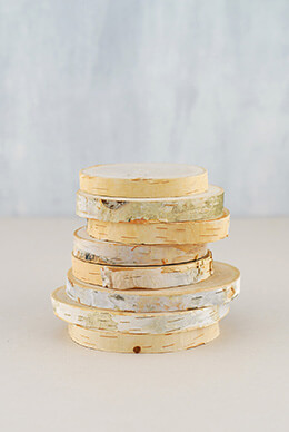 Birch Coasters 3-4in (Set of 8)