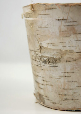 Birch Bark Covered Zink Pail 5in