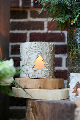 Birch Votive Holder 3.5in