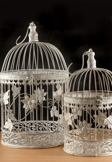 Wedding bird cage decorative antique card holder white for Cage d oiseau decorative