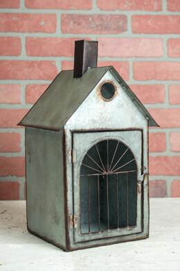 Metal Birdhouse & Candleholder