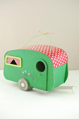 Birdhouse Camper Polka Dots