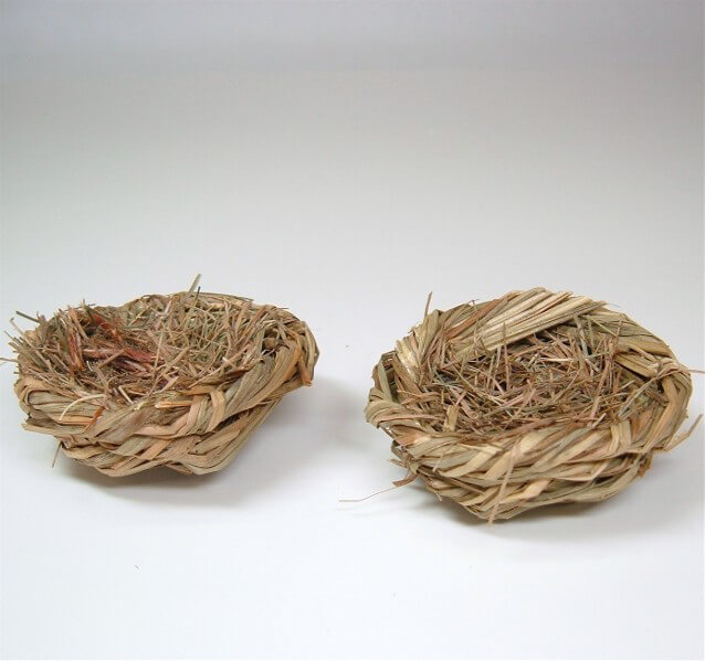 "Bird Nests Grass 2.5"" (6 nests)"