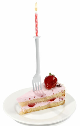 Birthday Candles Lite Brites� 12 cake forks with candles