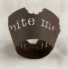 Bite Me Mini Cupcake Wrappers Decoration Brown Coffee (pkg 12)