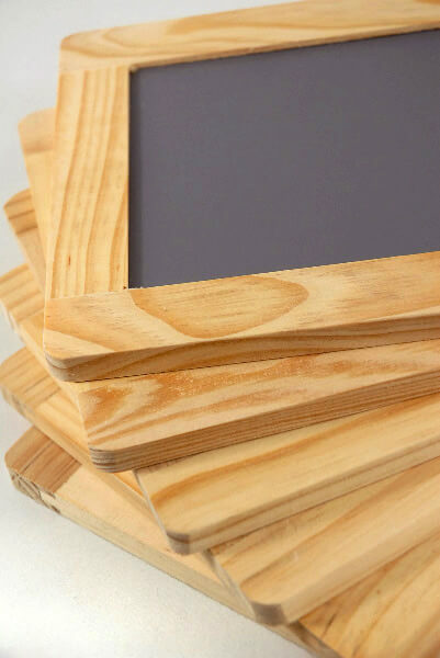 Black Boards Wood Framed 4x6 (6 chalkboards)