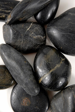 "Black Cobble Stones (2"" size)"