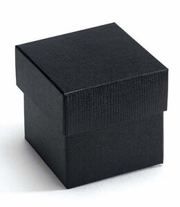 "Black Favor Boxes 2"" square (10 boxes/pkg)"
