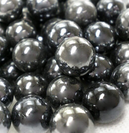 Black Lustre Mini Glass Marbles 3/4 lb