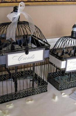 Vintage Birdcages (set of 2) Black Metal