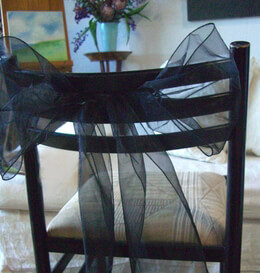 Organza Chair Sashes Black | Pack of 10