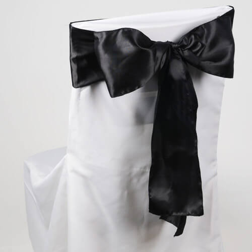 Chair Sashes Black | Pack of 10