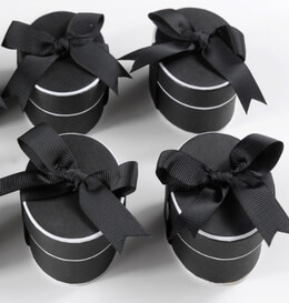 Black & White Formal Favor Boxes (6 boxes/pkg)