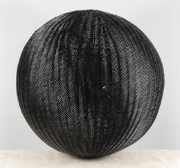 Black Wicker Ball 24 Inch