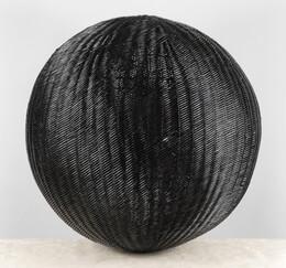 Black Wicker Ball 24 Inch