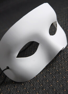 White Half Mask Adult