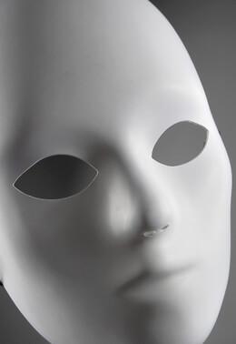 Blank Masks White Full Face Adult