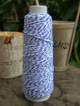 Blue and White Bakers Twine 100 yards