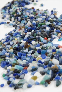 Glass Pebbles Blue (46 oz.)