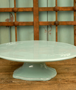 Ceramic Cake Stand Light Blue 10.6in
