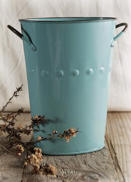 Flower Market Bucket Blue 7in