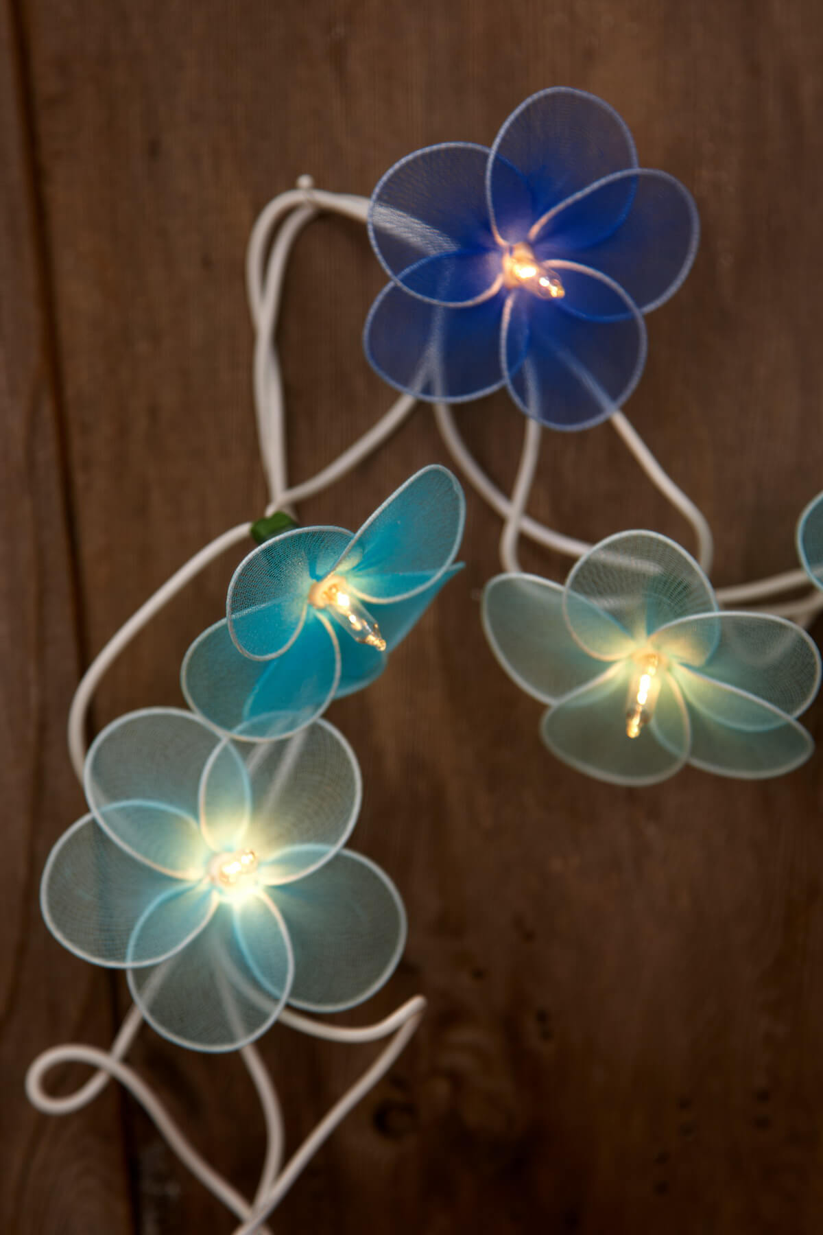 Flower String Lights Blue